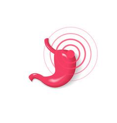 Stomach pain icon ache symbol vector