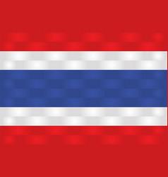 Thailand flag in art design 3 vector