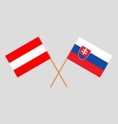 The slovakian and austrian flags vector