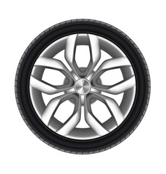 tire a car isolated rubber tyre truck vector image