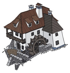 Water mill vector