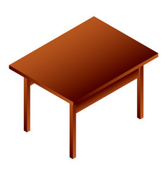 Wood table icon isometric style vector