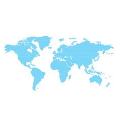 World map with blue circles vector