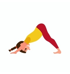 Yoga kids poses vector
