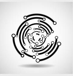 abstract circle with lines geometric logo vector image