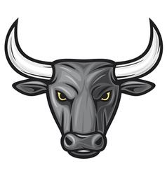 black bull head vector image