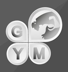 body building and fitness vector image