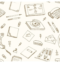 office tools doodles pen pencils book paper vector image vector image