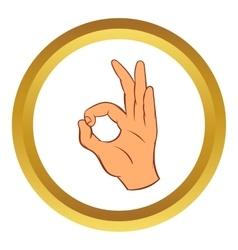 OK sign icon cartoon style vector image vector image