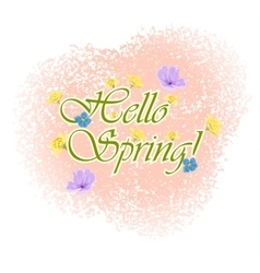 Beautiful Typographical Spring Background with vector image vector image