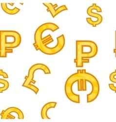 Money signs pattern cartoon style vector image