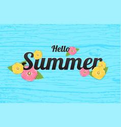 summer flowers background or summer floral design vector image vector image