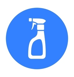Cleaner spray black icon for web and vector image vector image