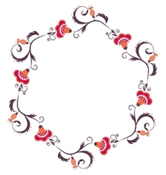 Floral wreath Flower border frame vector image vector image