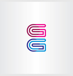 G geometric logo icon element vector