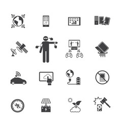 new technology trends icons set flat design for vector image vector image