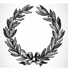 olive leaf wreath vector image vector image
