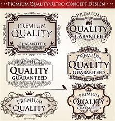 premium quality retro concept design vector image vector image