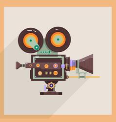 Retro technology icon camcorder professional vector