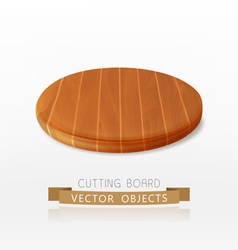 wooden cutting board isolated on a white backgroun vector image vector image