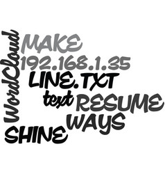 ways to make your resume shine on line text word vector image vector image