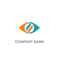 abstract eye technology colored logo vector image
