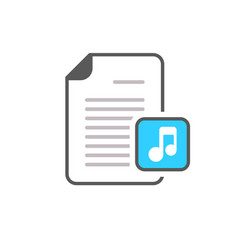 audio document file music note page icon vector image