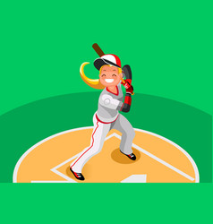 Baseball girl mascot poster vector