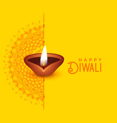 Beautiful diwali greeting card design with vector