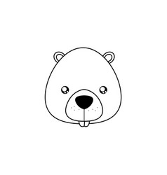 Beaver drawing face vector