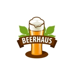beer logo vector image