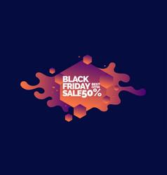Black friday sale banner original poster vector