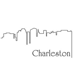charleston city one line drawing vector image