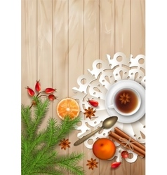 Christmas Tea Party Background vector