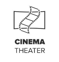 Cinema hall icon vector