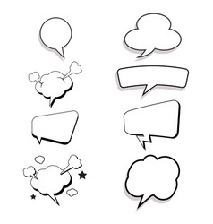 Comic book design element vector