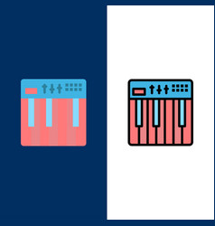 Controller hardware keyboard midi music icons vector