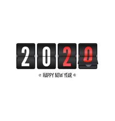 Countdown to new year 2020 retro flip clock vector