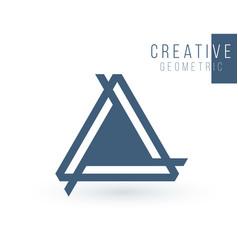 Creative trinity futuristic triple triangle vector