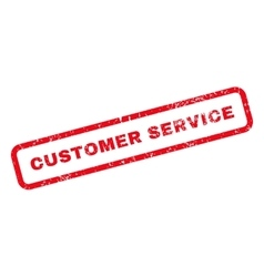 Customer Service Text Rubber Stamp vector