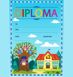 Diploma subject image 3 vector