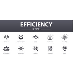 Efficiency simple concept icons set contains such vector