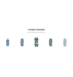 Fitness tracker icon in different style two vector