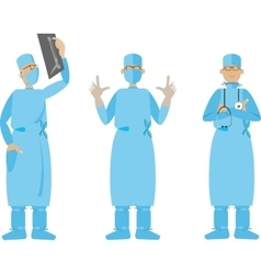Flat Cartoon Surgeon vector image