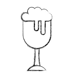 Fresh beer in cup isolated icon vector