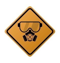 Gas mask icon sign vector