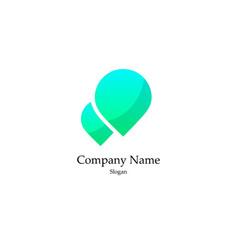 green drop logo vector image