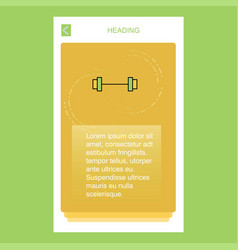 gym rod mobile vertical banner design design vector image