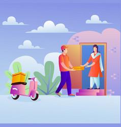 home delivery door to door vector image