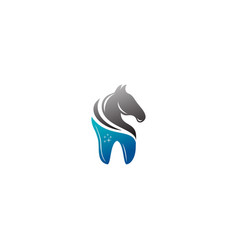 horse dental logo vector image